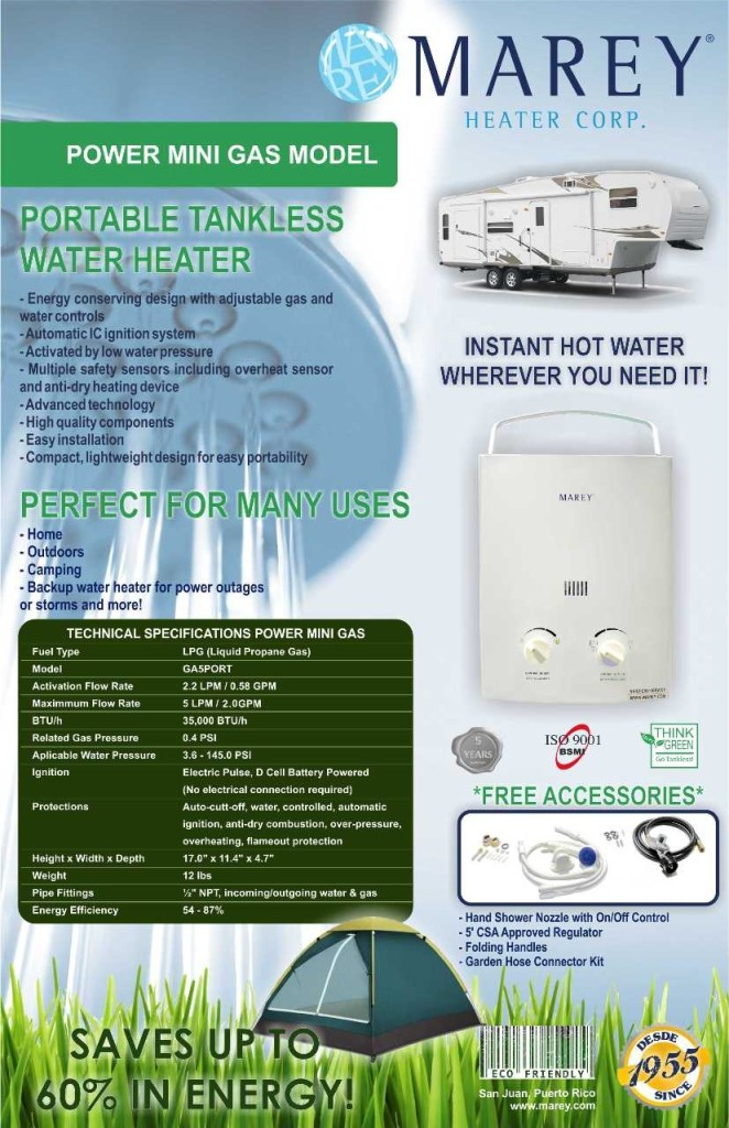 tankless water heater propane gas 2 0 gpm portable hot water on demand ebay. Black Bedroom Furniture Sets. Home Design Ideas