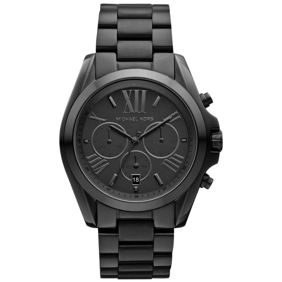 michael kors bradshaw s s chrono all black unisex