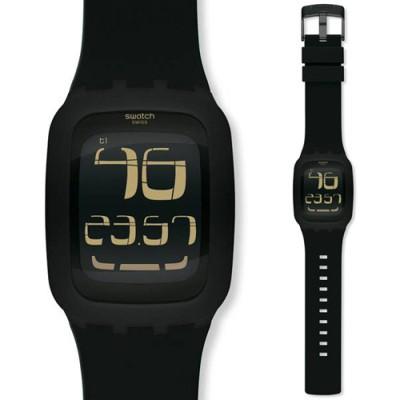 new swatch quot touch quot black digital unisex surb100
