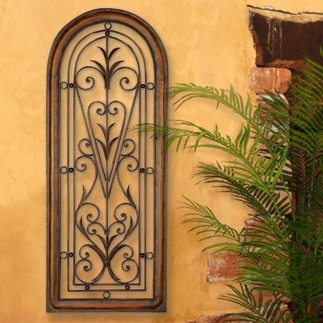 French Tuscan Italian Arched Window Mediterranean Wall