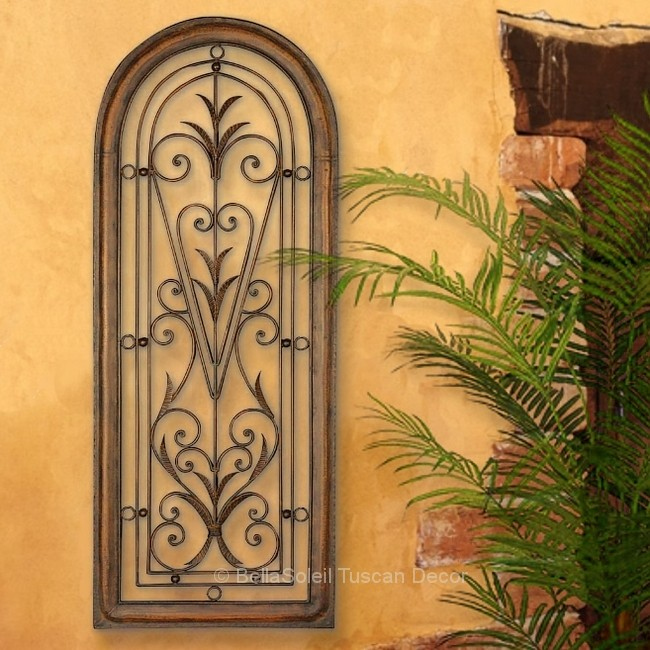Italian Outdoor Wall Decor : French tuscan italian arched window mediterranean wall