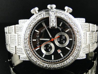 fully iced out mens diamond gucci ya101324 watch 16 5 c click to view supersize image