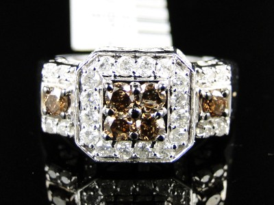 Wedding Rings   on 14k Chocolate Diamond Engagement Bridal Wedding Ring   Ebay