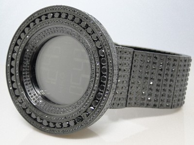 mens brand new 52mm bezel i gucci digital black simulated diamond click to view supersized image