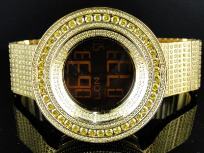 mens brand new 52mm bezel i gucci digital canary simulated diamond click to view supersized image