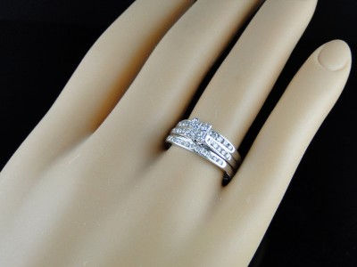click to open supersize image - 3 Piece Wedding Ring Set