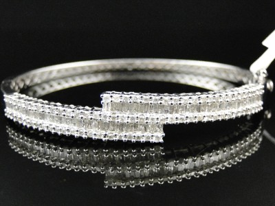 bangle band bangles diamond baguette rose seven audry