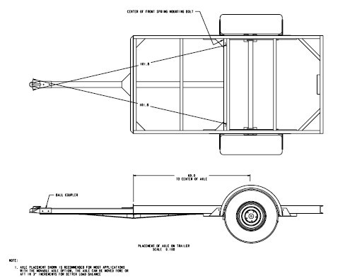 4x8 Utility Trailer Building Plans Blueprints 3500 Lb   eBay