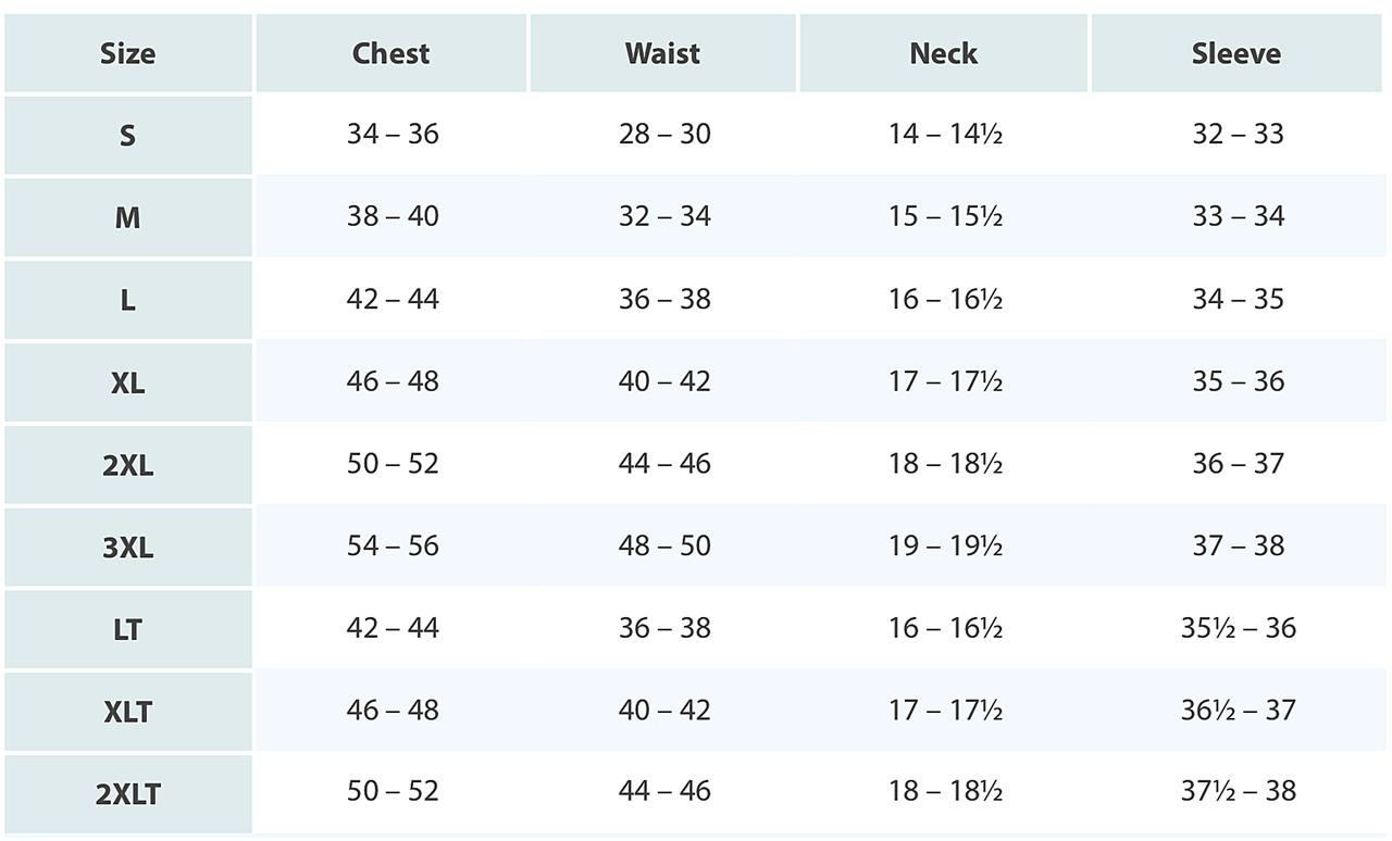 Size Chart The suit or sportcoat size in the US is described as a number, referring to your chest measurement, and a letter, describing the jacket length. To find the corresponding pant size, see the pant conversion below.