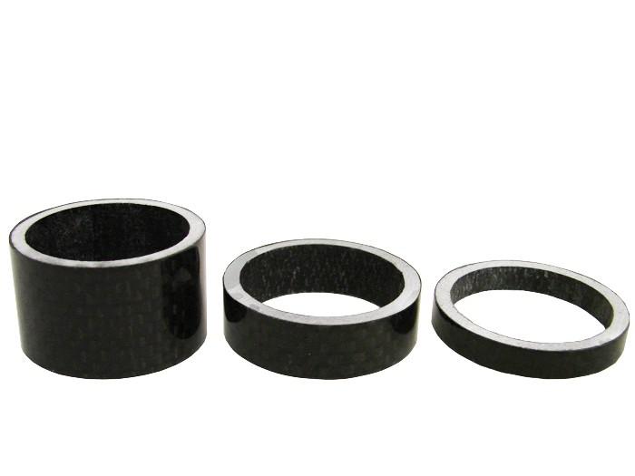 Carbon Fiber Spacers : Carbon fiber quot headset stem spacers kit mm