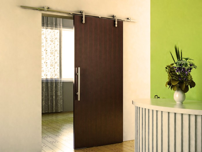 Modern Set Of Barn Door Hardware For Sliding Wood Door