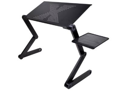 adjustable foldable laptop notebook pc desk table vented stand portable bed tray ebay. Black Bedroom Furniture Sets. Home Design Ideas