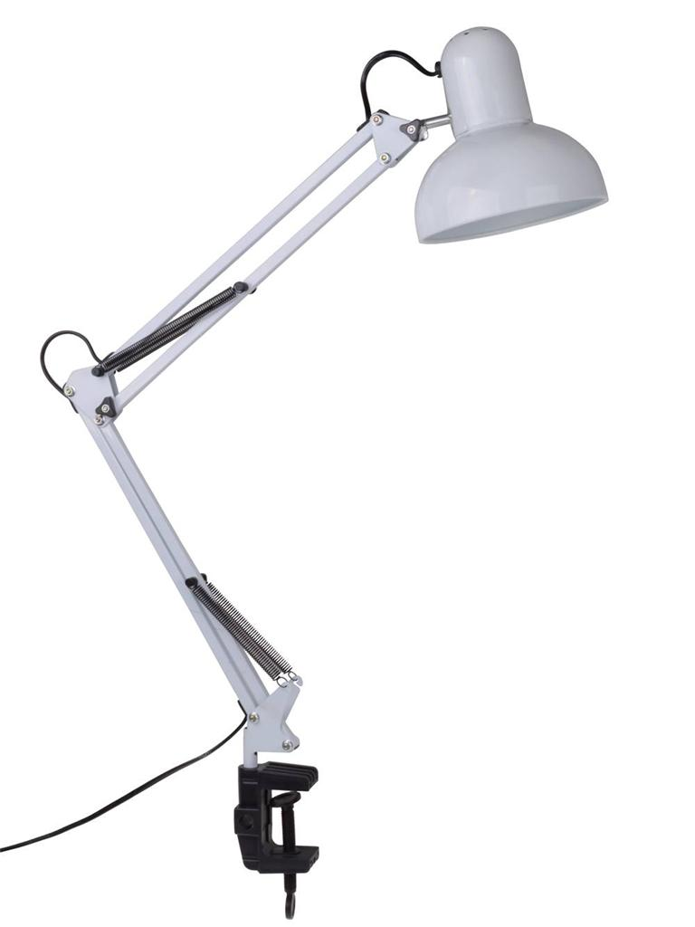 Wall Mount Office Lamp : White Flexible Swing Arm Clamp Mount Office Studio Home Table Desk Lamp Light eBay