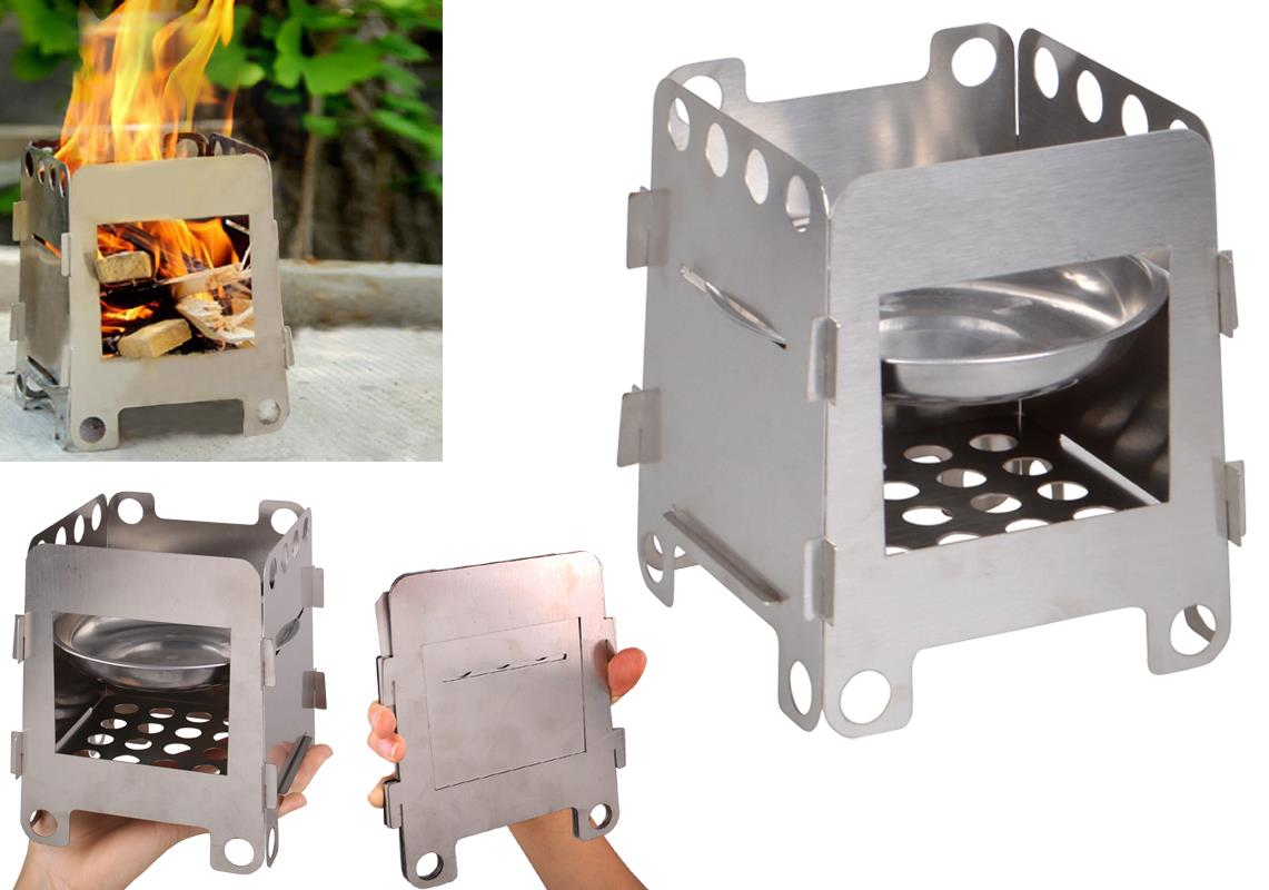 Outdoor Portable Cooking Stove Backpacking Survival Wood ...