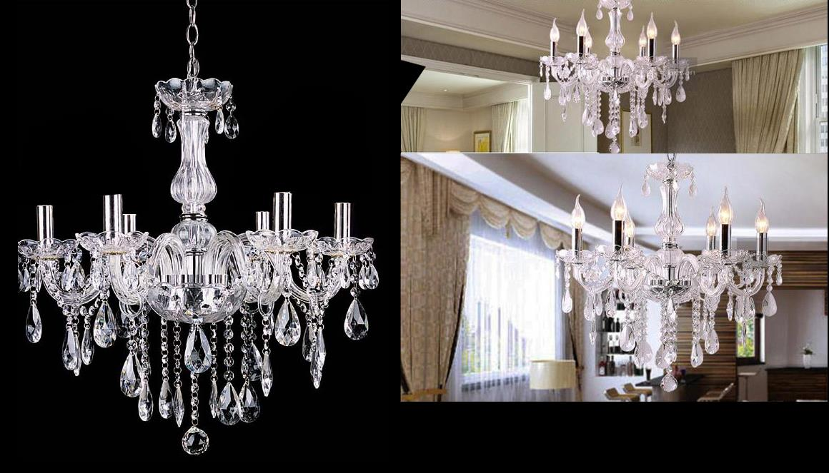 Vintage Ceiling Lights Lamp Lighting Fixture Crystal