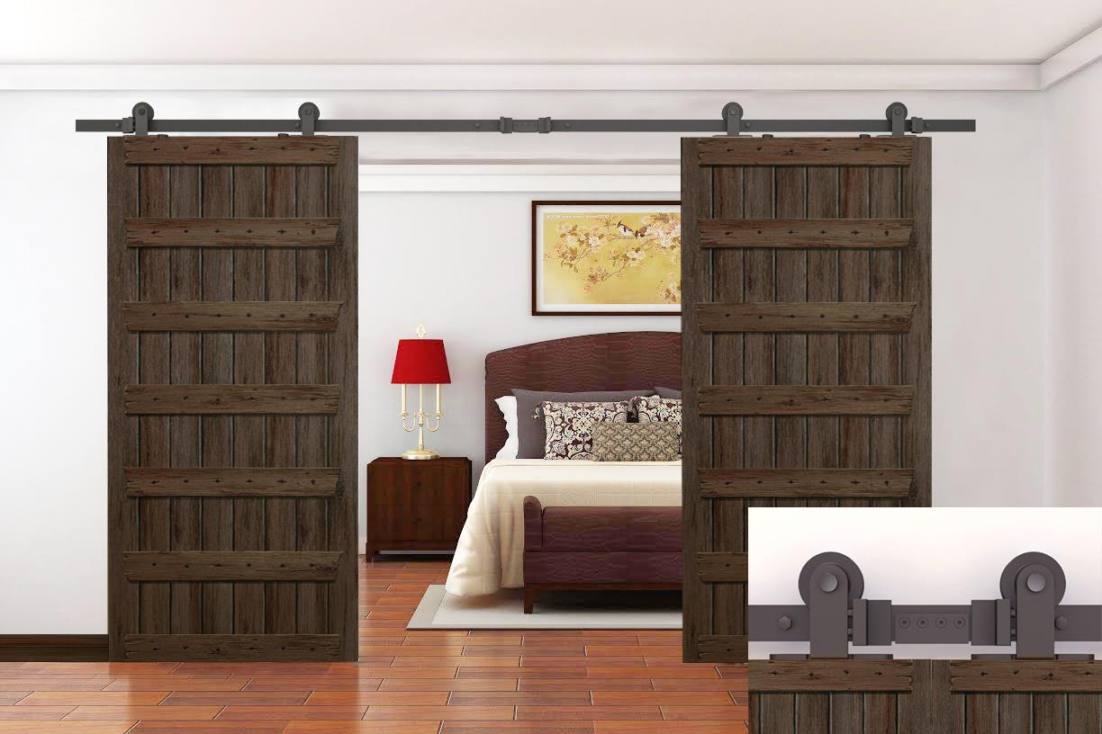 Double Sliding Barn Door Track Hardware Pictures To Pin On
