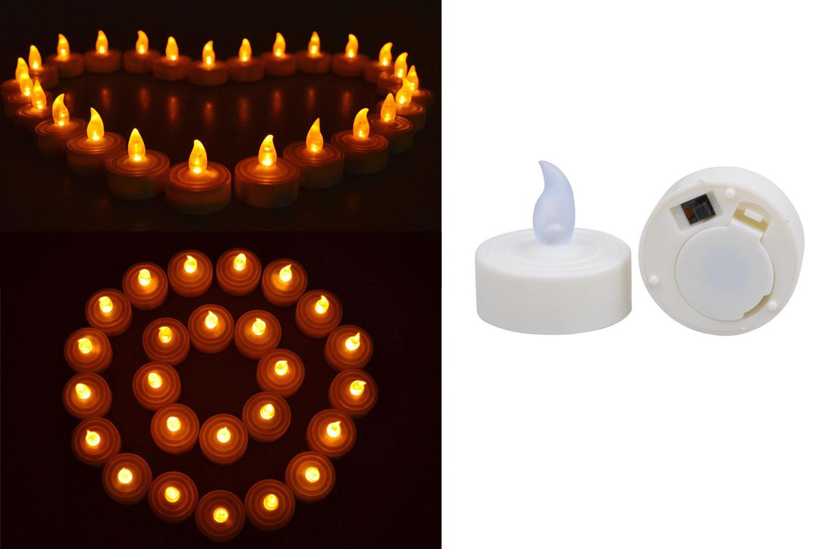 50 Flickering Flicker Flameless Led Candles Wedding Party Tea Home Decor Light Ebay