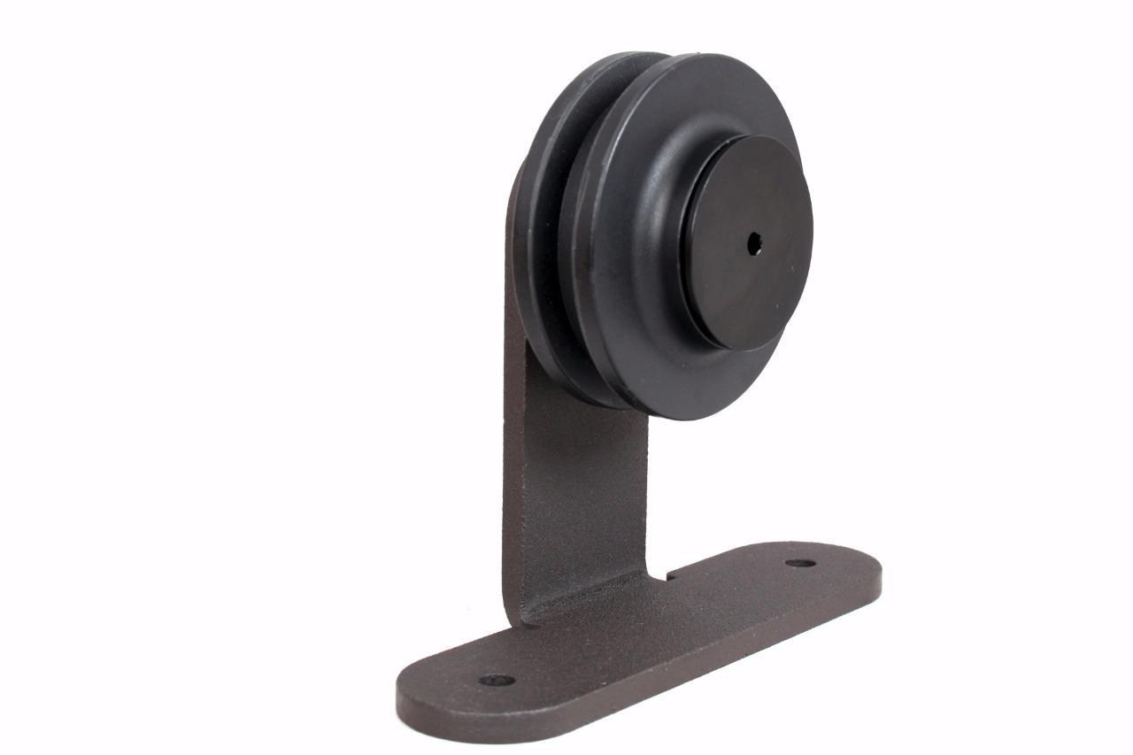 Rustic Steel Sliding Barn Door Hardware Roller Replacement Bracket