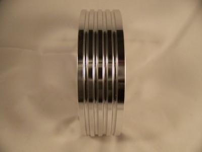Polished Billet Grant 3 hole to Momo 6 hole Steering Wheel hub adaptor