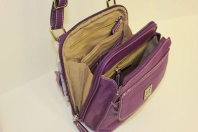 Giani Bernini Handbag Pebble Leather Crossbody Violet