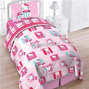 details about hello kitty four price twin size bedding set