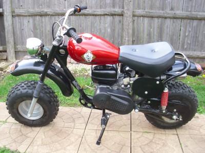 puma 200 adult size mini bike mini chopper gas powered. Black Bedroom Furniture Sets. Home Design Ideas