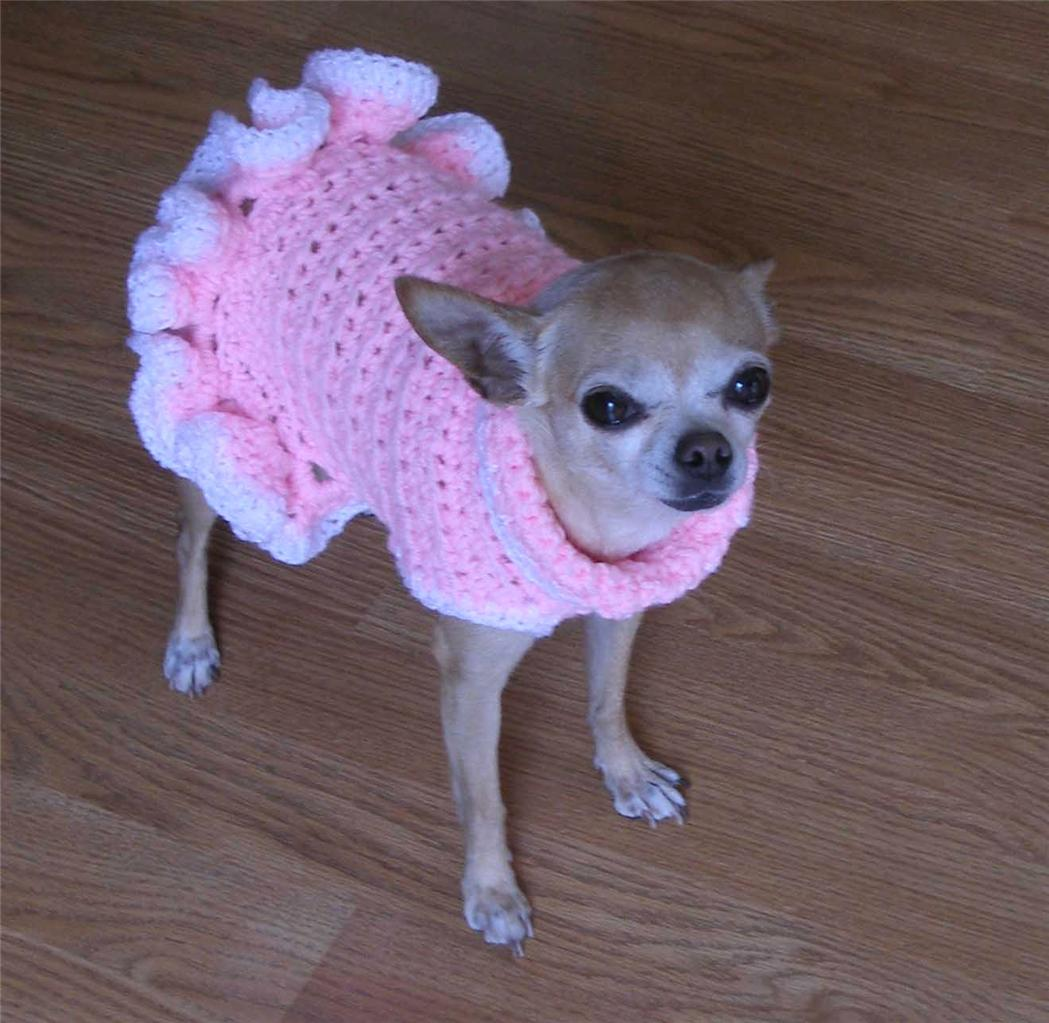 pdf crochet pattern cha cha dog sweater