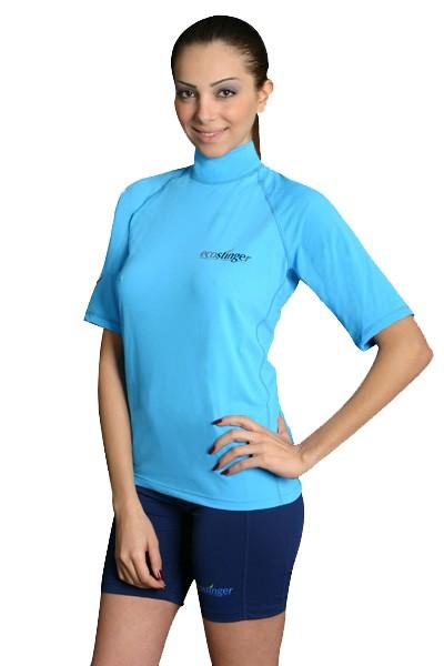 Womens uv sun protection clothing rash guards shorts surf for Womens rash guard shirts