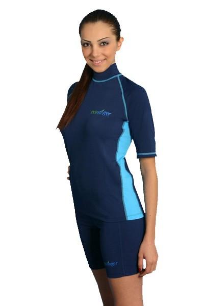Womens uv rash guards shorts surf shirts tights ebay for Womens rash guard shirts