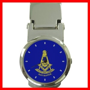 Blue Masonic Past Master Money Clip Watch