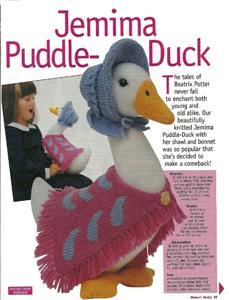 Jemima Puddle Duck Knitting Pattern : ALAN DART ~ JEMIMA PUDDLEDUCK ~ TOY KNITTING PATTERN eBay