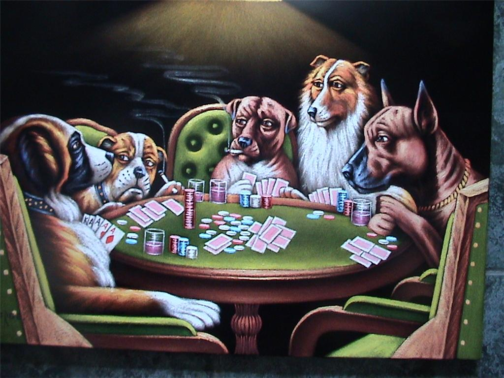 Poker dogs painting