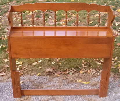 Ethan Allen Nutmeg Solid Maple Bookcase Top Headboard Ebay