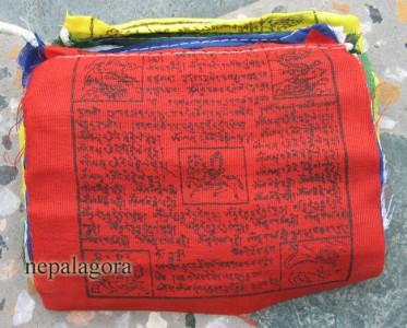 PF56 Lot of 5 Tibetan Buddhist windhorse cotton prayer flags Nepal