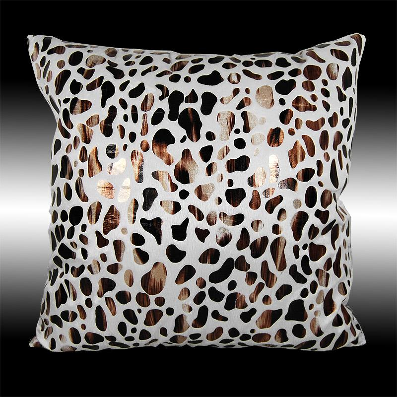 2X NEW BEIGE GOLD LEOPARD THROW PILLOW CASES COVERS 17