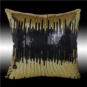 Black Sparkle Throw Pillow : 2 GOLD BLACK SEQUIN CUSHION COVER THROW PILLOW CASES 16 eBay