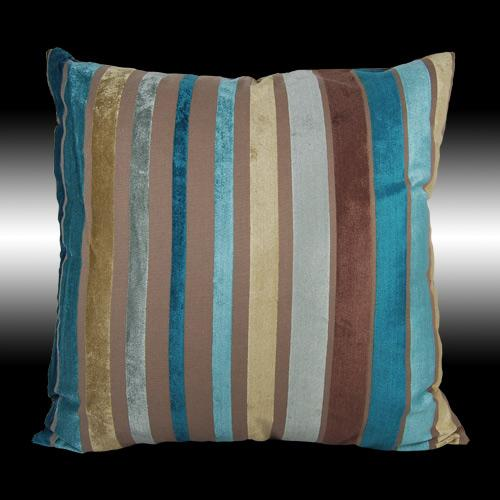 2X LUXURY RARE COLORFUL STRIPES VELVET THROW PILLOW CASES CUSHION COVERS 17