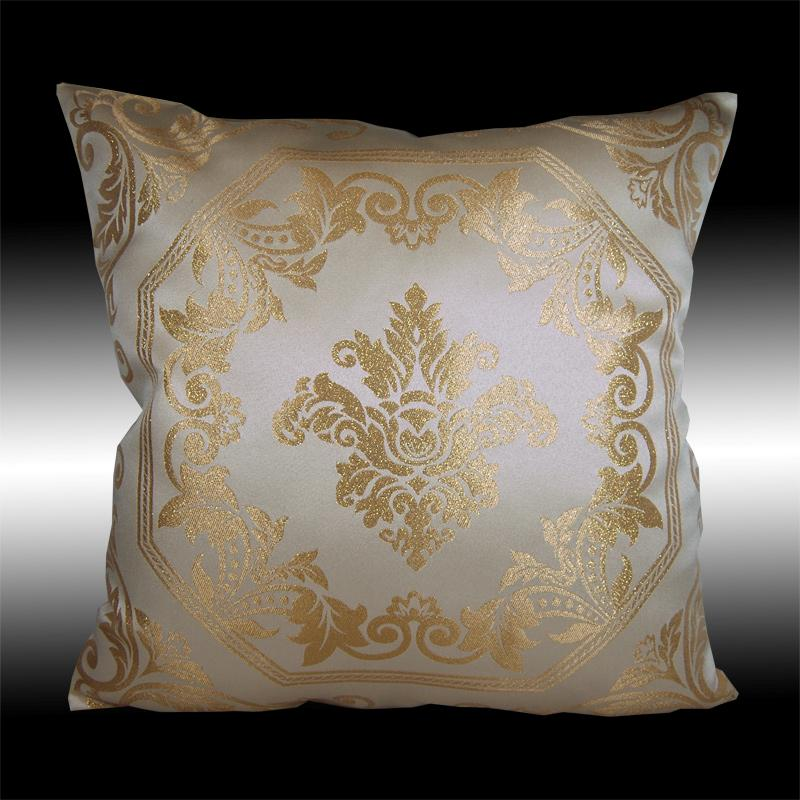 2x elegant silver gold damask cushion covers throw pillow. Black Bedroom Furniture Sets. Home Design Ideas