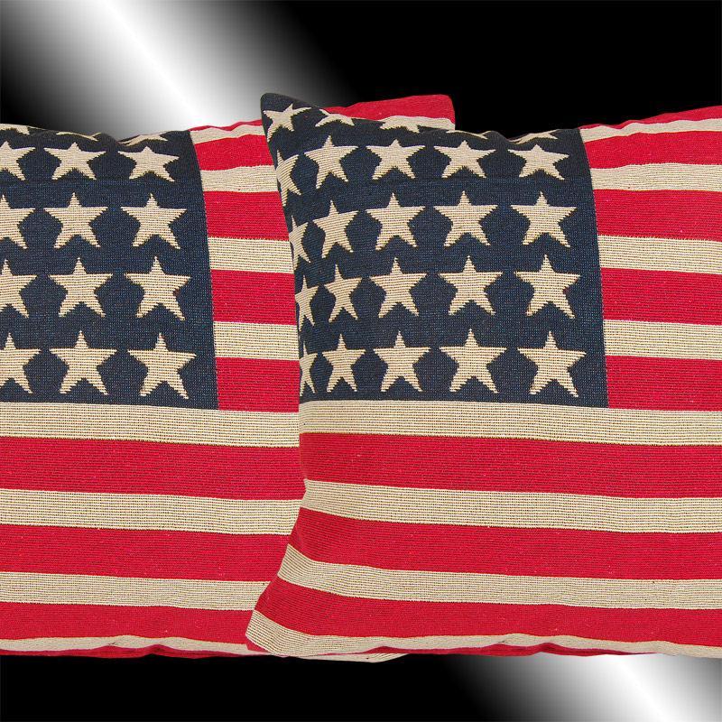 Red Blue White Stars Stripes Usa Flag Throw Pillow Cases