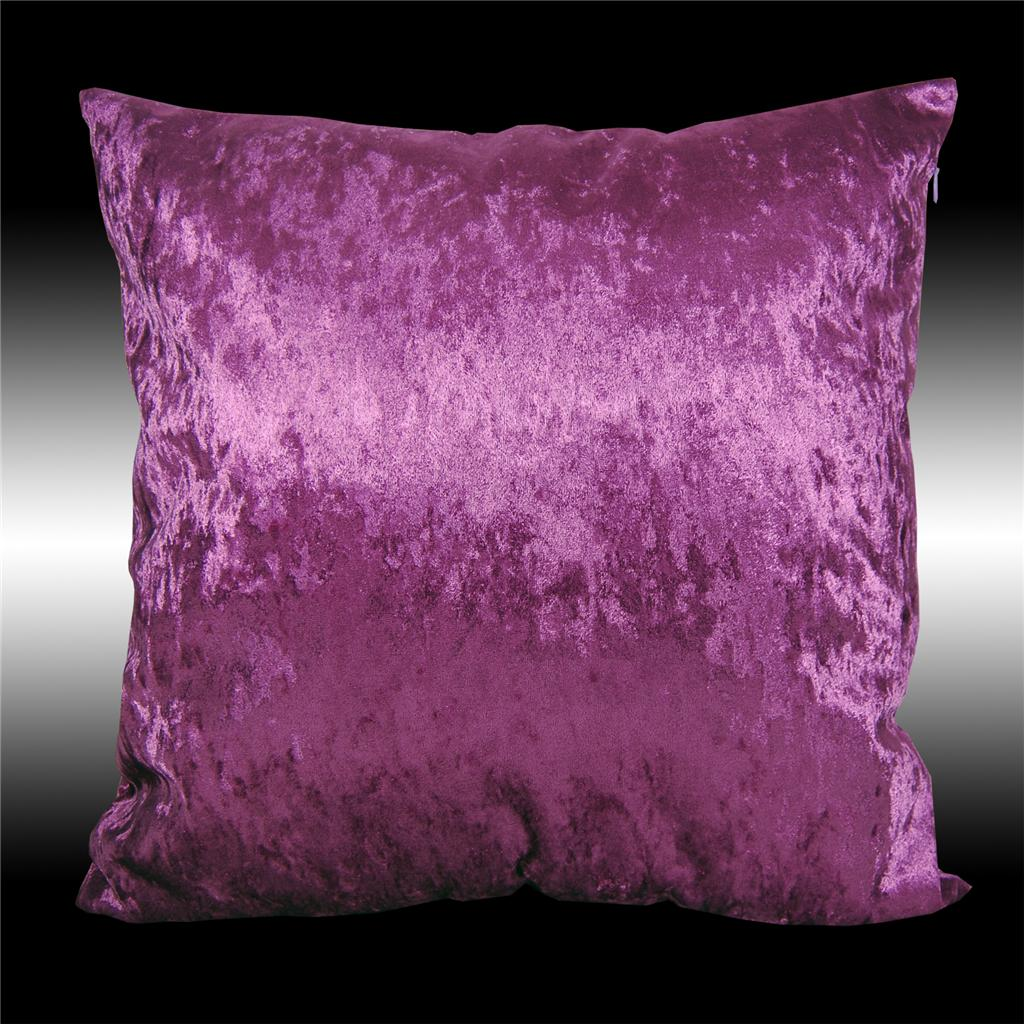 2X SHINNY SMOOTH PLAIN THICK VELVET DECO CUSHION COVERS THROW PILLOW CASES 17