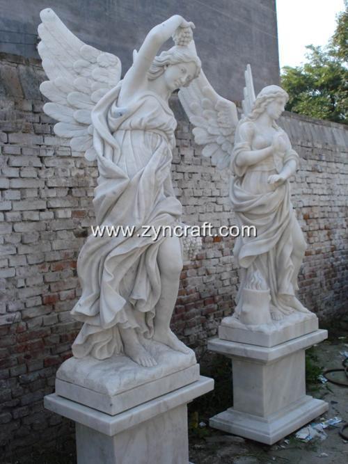 Four Seasons Angel Statue Garden Marble Sculpture Large