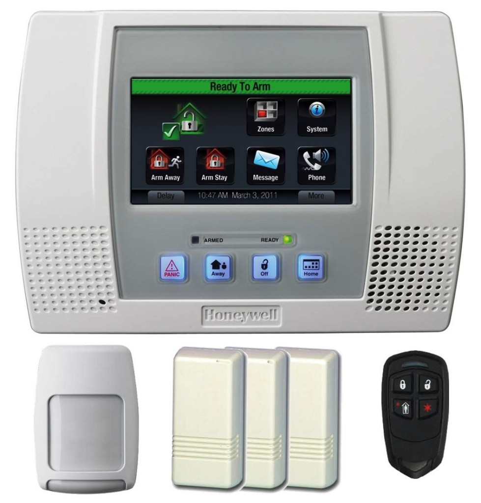 honeywell lynx touch l5100 wireless alarm with wifi zwave gsm unit ebay. Black Bedroom Furniture Sets. Home Design Ideas