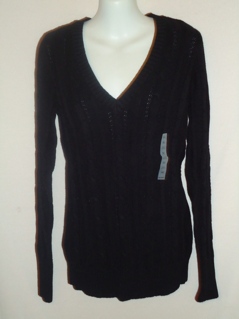 Old Navy cable knit long sleeve V-neck Sweater Choose sz ...