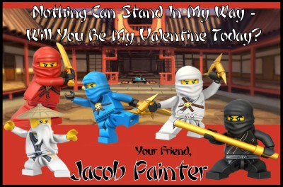 Lego Ninjago Valentines Day Cards 30 w Envelope Seals Ninja