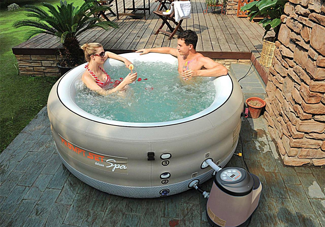 Prompt Deluxe Set Spa 4 Person Portable Inflatable Hot