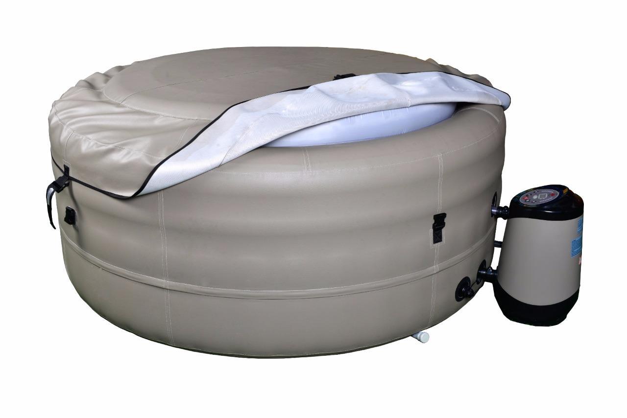 rio grande hot tub extra deep 4 person inflatable portable spa ebay. Black Bedroom Furniture Sets. Home Design Ideas