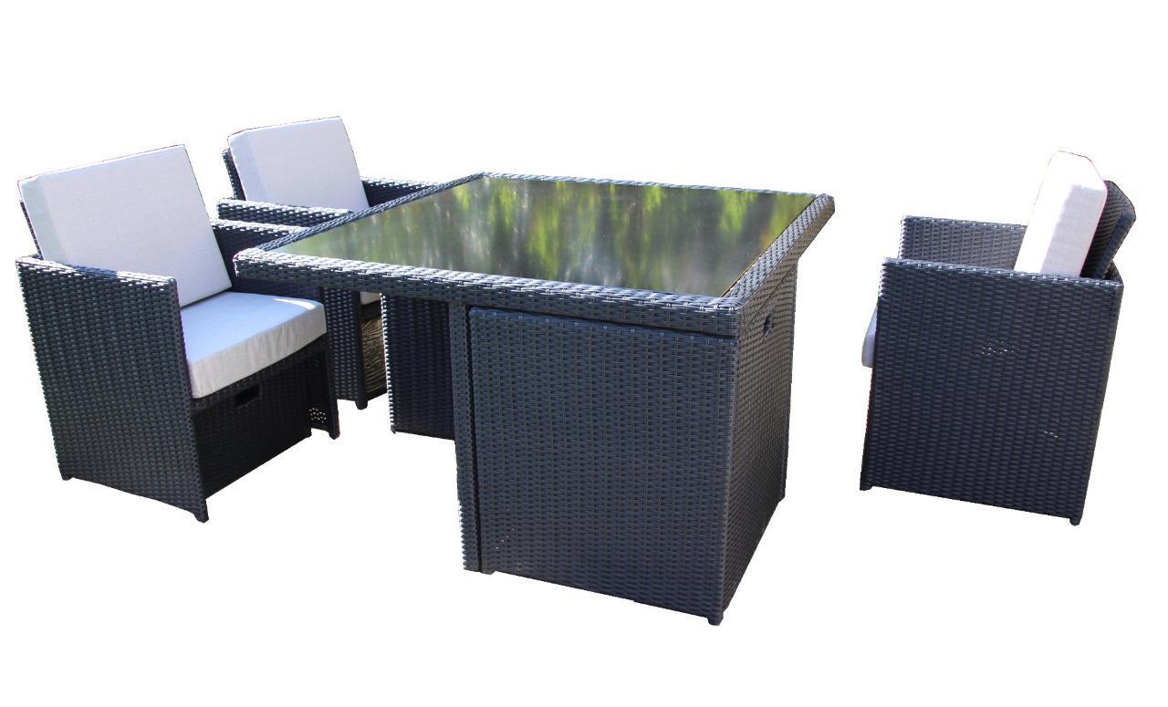 Water Cube Rattan 9 Piece Outdoor Garden Patio Furniture Set EBay