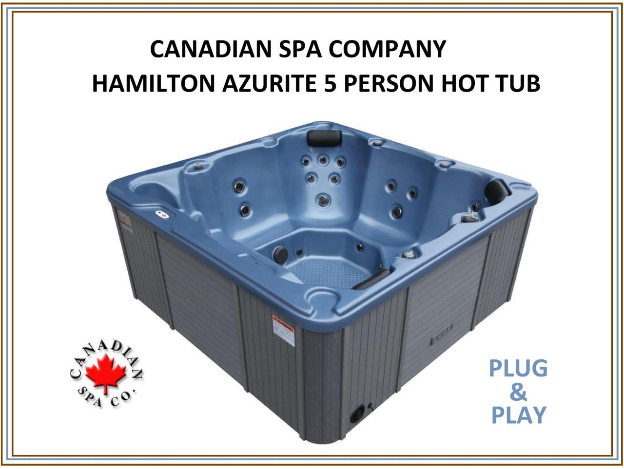 canadian spa hamilton hot tub brand new plug play. Black Bedroom Furniture Sets. Home Design Ideas