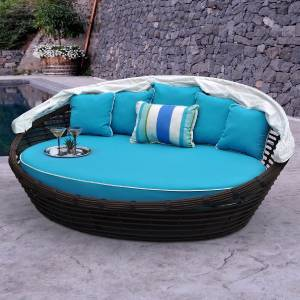 Melbourne daybed patio outdoor garden deck pool furniture for Outdoor pool daybeds