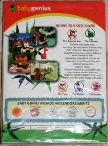 Baby Genius Animal Series Dvd Boxed Set Brand New